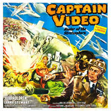 1951 CAPTAIN VIDEO VINTAGE SCIENCE FICTION MOVIE POSTER PRINT STYLE B 24x24