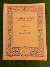 Marcel Bitsch Variations pour cor en Fa et piano score partition Leduc
