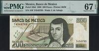 Mexico 200 Pesos 1999 P.109d PMG 67 EPQ