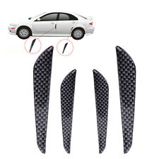 4pcs Car Auto Door Crash Protector  Edge Guard Bumper Bar Anti-rub Strips Black