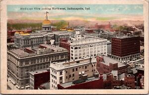 Postcard Birds Eye View Looking Northwest in Indianapolis, Indiana~118