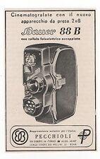 Pubblicità 1957 BAUER 88 B CINEPRESA FILM FOTO advert werbung publicitè reklame