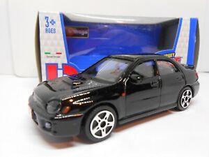 TOY CAR SUBARU IMPREZA BLACK 1/43 MODEL BOY GIRL DAD BIRTHDAY GIFT PRESENT BOXED