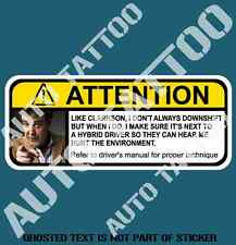 FUNNY DOWNSHIFT WARNING DECAL STICKER HUMOUR FUNNY NOVELTY CAR DECAL STICKERS