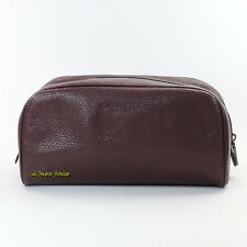 NWT Coach Signature Men's Leather Travel Toiletry Shaving Bag F93593 Brown RARE