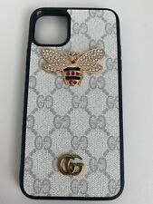 Gucci Case For Iphone 11 Pro Max White With Bee And Logo GG