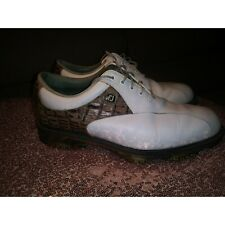 Fit Joys Tour White Croc Golf Shoes Size 8