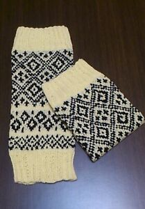 Yellow women leg warmers Handmade Yoga sock Jacquard English style British style