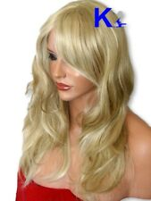 ASH Blonde Womens Wig Natural Straight Full Long Fashion Costume looks real K22