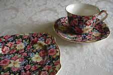 Royal Winton Chintz Florence Trio Tea Cup Saucer Tea Plate Set of 3 NEW