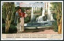 Villa D' Este Garden ParkTivoli Italy 60+ Y/O Trade Ad Card