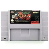 Venom-Spider-Man: Separation Anxiety (Super Nintendo, 1995) Authentic Tested