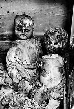 Creepy Broken DOLLS B&W Photo Print / Abandoned Horror Toys