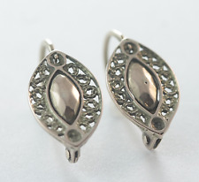 Victorian 15ct Rose Gold Pierced Filigree Drop Earrings