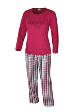 Schlafanzug lang Pyjama kurz Capri Damen �œbergrösse Baumwolle Hausanzug S M L XL