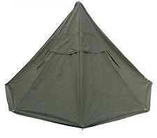 Tent Teepee Lavvu Poncho 2pcs set, Polish Army Olive Canvas NEW_2003 year_size 2