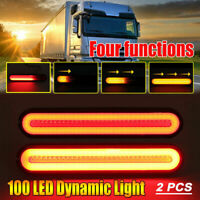 2x Car Rear Stop 100LED Lights Tail Brake Indicator Truck Van Lamp Trailer Light