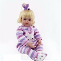 "22""Toddler Reborn Baby Girl Doll Silicone Vinyl Lovely Newborn Toy Gift Handmade"
