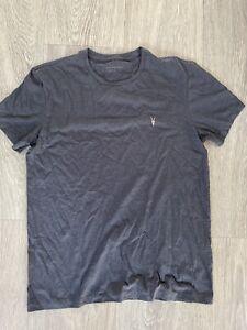Mens All Saints Grey Top Tshirt Medium