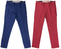 Ralph Lauren Polo Mens Stretch Slim Fit Chino Pants Red/Blue New