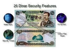 MINT IRAQ SADDAM HUSSEIN 25 DINAR MONEY 1986 CERTIFIED UNC P 73