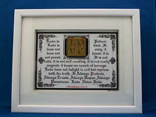 """Bible Scripture Plaques/Signs """"LOVE NEVER FAILS"""" Framed,Christian Gifts,Wood $60"""
