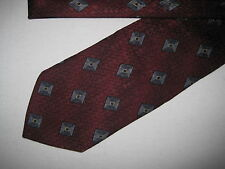 Mens Red Print Tie Necktie (3915)