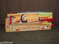 VINTAGE 1960S TIN TOY PISTOL TARGET MASTER TOURNAMENT RANGE GAME IN BOX