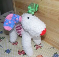 KNITTING PATTERN ONLY SNOW DOG  SOFT TOY