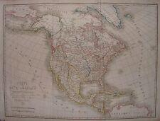 1821 CARTE DE L'AMERIQUE SEPTENTRIONALE Ambroise Tardieu North America USA