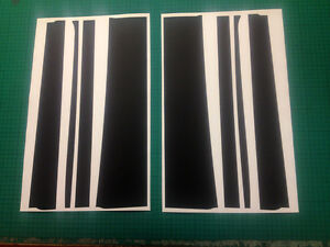 Vauxhall Nova GTE GSI 8 Piece B Pillar Decal Kit Original B Post