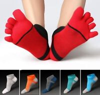 6 Pack Men's five finger toe Socks Cotton Ankle Casual Sports Low Cut Breathable