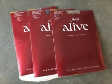 Lot 3 Hanes Alive Support Pantyhose 810 Size E Town Taupe Barely There Black