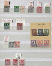 Abarten -kleine Sammlung mit Thüringen, Deutsche Post, Böhmen und Mähren,am Post