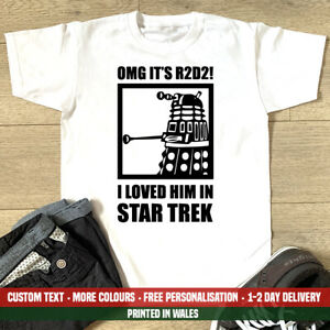 R2D2 Dalek T-shirt Funny Star Dr R2 D2 Wars Who Trek Funny Fathers Day Gift