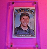 1972 Topps Baseball #634 DICK WOODSON Twins NmMt Nm-Mt High Grade sharp
