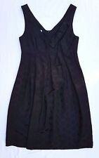 AS NEW Maiocchi Size 8 Dress Black LBD Silk Sleeveless Polkadot Evening Occasion