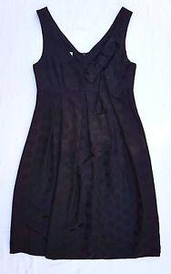 AS NEW Maiocchi Size 8 Dress Black LBD Silk Sleeveless Polkadot Evening Occasion