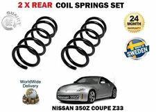 FOR NISSAN 350Z Z33 COUPE 3.5 2002--> NEW 2 X REAR LEFT RIGHT COIL SPRINGS SET