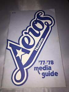 Houston Aeros WHA Hockey Media Guide (Final Season) 1977-78 Gordie Howe