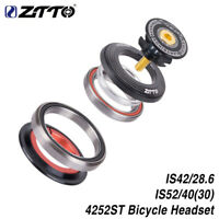 "ZTTO 4252ST MTB Bike Headset 42/52mm 1 1/8""-1 1/2"" Tapered Tube fork Straight"