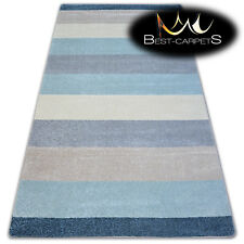 """AMAZING THICK MODERN SOFT RUGS """"NORDIC"""" cream stripes floor carpet small large"""