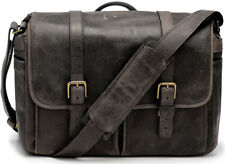 ONA Handcrafted Leather Brixton Camera Messenger Bag, Dark Truffle, Holds DSLR