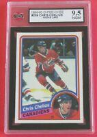 1984-85 OPC O-Pee-Chee Chris Chelios RC # 259, Montreal Canadiens, KSA 9.5 NGM