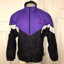 Vtg 80s 90s Colorblock ASICS Windbreaker Jacket Track suit NYLON Mens LARGE