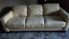 italian leather sofa set cream color good condition great for a play room kids