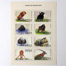 Angola Animais de Grande Porte 8 stamp block