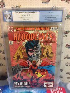 "Superman Annual #5 PGX 9.2...COA 961/5000...RARE...""Myriad!""..1ST MYRIAD APP"