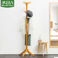 12 Hooks Coat Rack Stand Clothes Hat Jacket Vintage Bamboo Hanger Storage