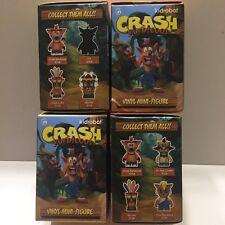 "4 Unopened Kidrobot Crash Bandicoot Collectible 3"" Figures Blind Boxes"